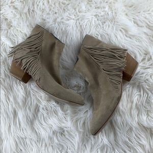 Seychelles Good Advice Suede Fringe Ankle Boots